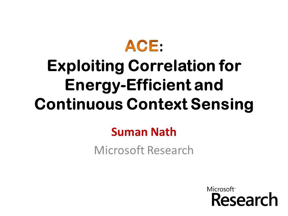 Suman Nath Microsoft Research