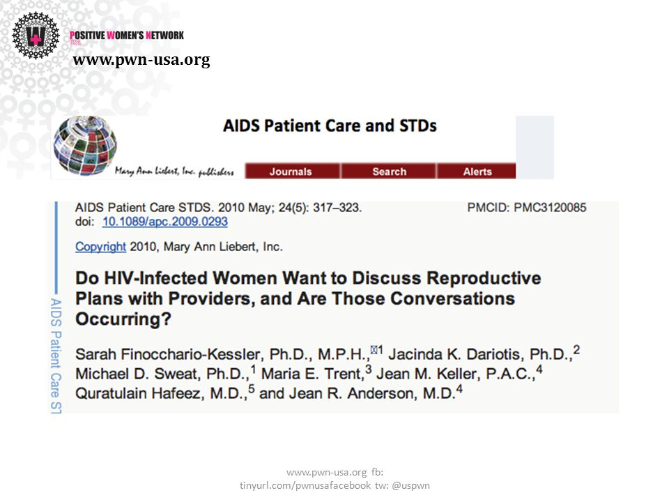 Reproductive Health and Rights www.pwn-usa.org fb: tinyurl.com/pwnusafacebook tw: @uspwn