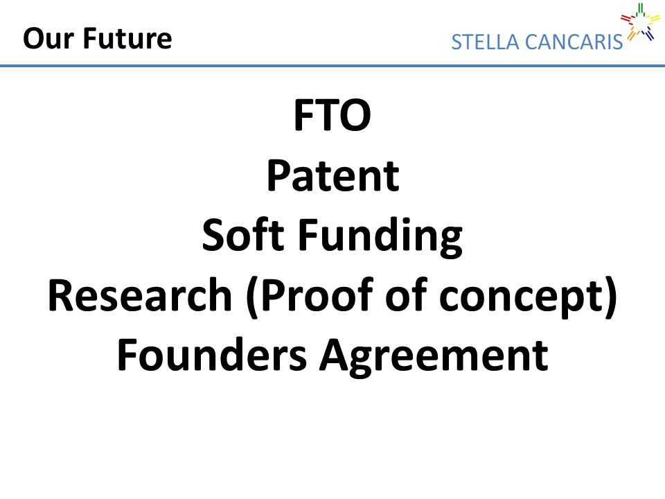Our Future FTO Patent Soft Funding Research (Proof of concept) Founders Agreement