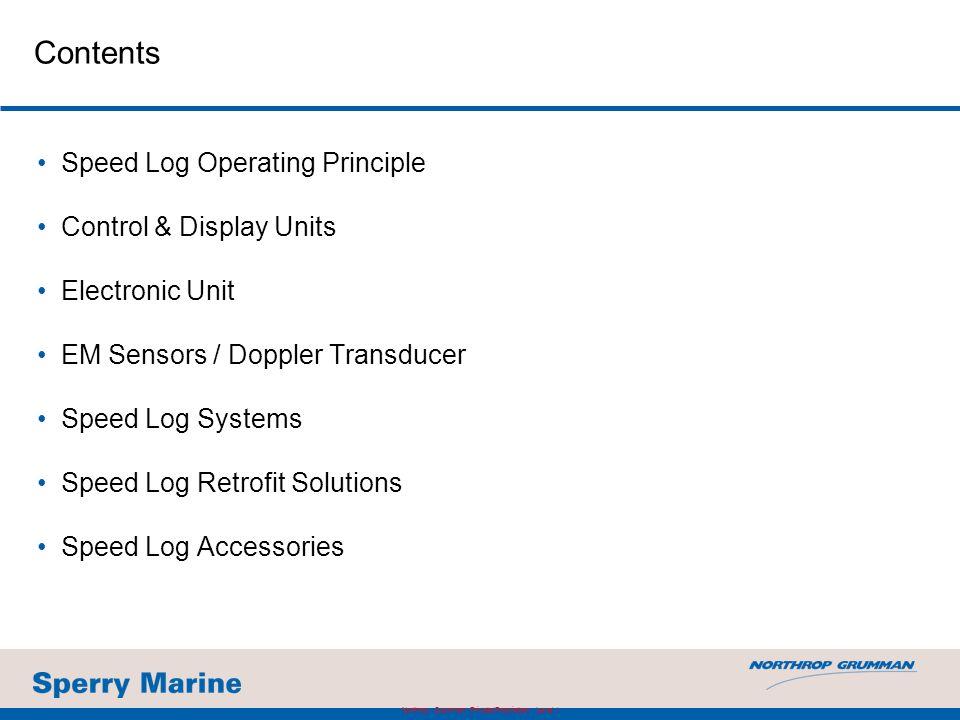 NAVIKNOT Speed Log 450 DD Retrofit of Display Unit for SRD 331 Northrop Grumman Private/Proprietary Level I