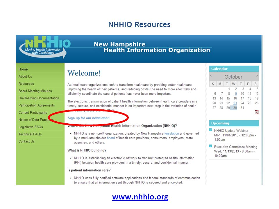 www.nhhio.org NHHIO Resources