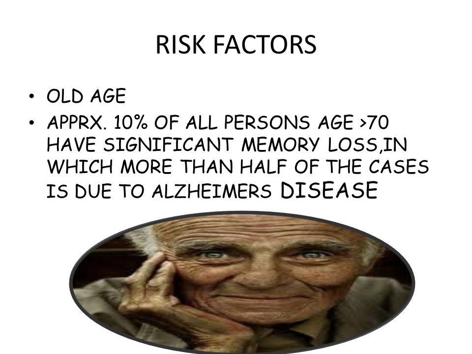 RISK FACTORS OLD AGE APPRX.