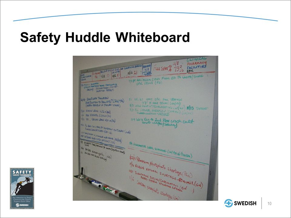 Safety Huddle Whiteboard 10
