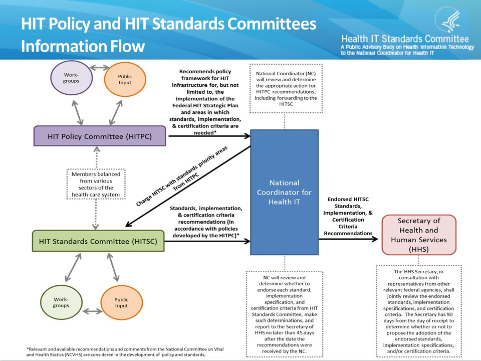 Information Flow 4 HIT Policy and HIT Standards Committees Information Flow