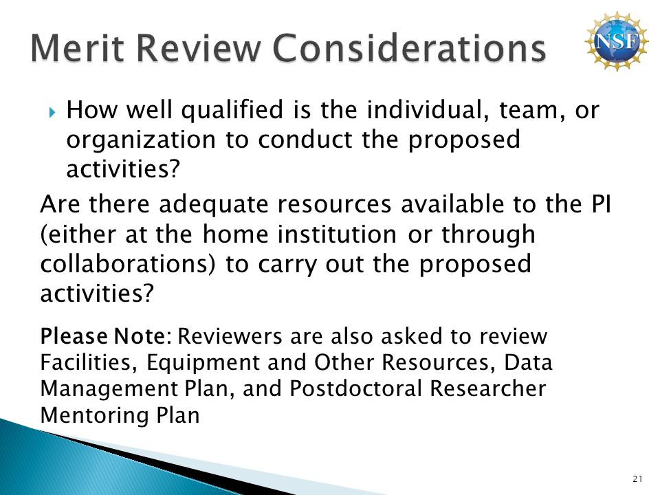  How well qualified is the individual, team, or organization to conduct the proposed activities.