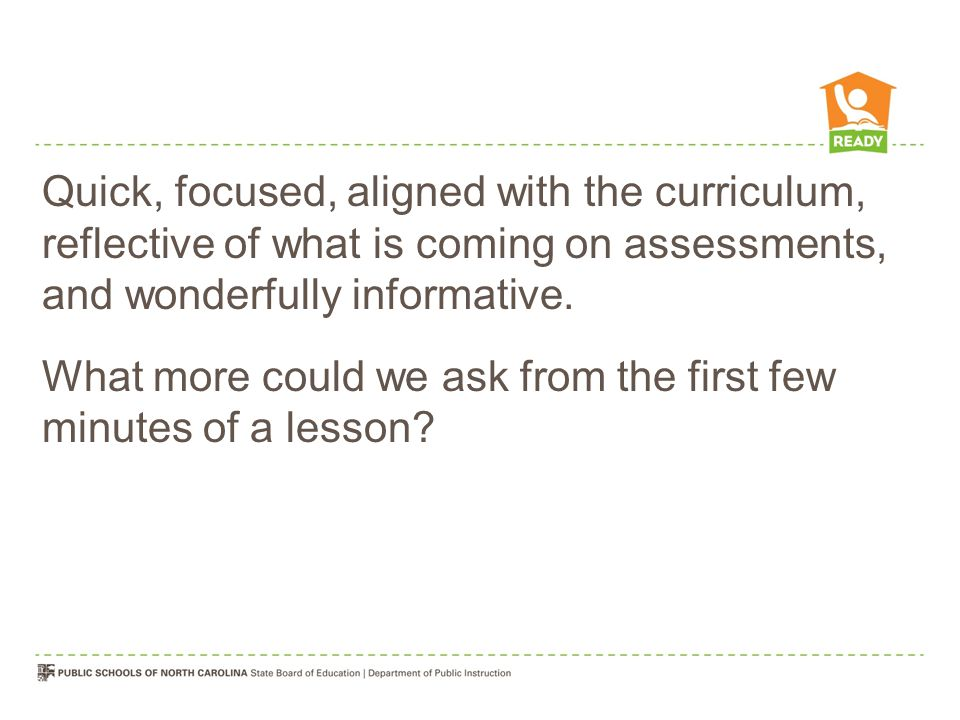 Quick, focused, aligned with the curriculum, reflective of what is coming on assessments, and wonderfully informative.