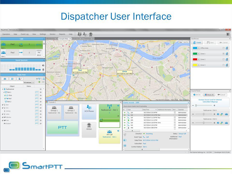 Dispatcher User Interface
