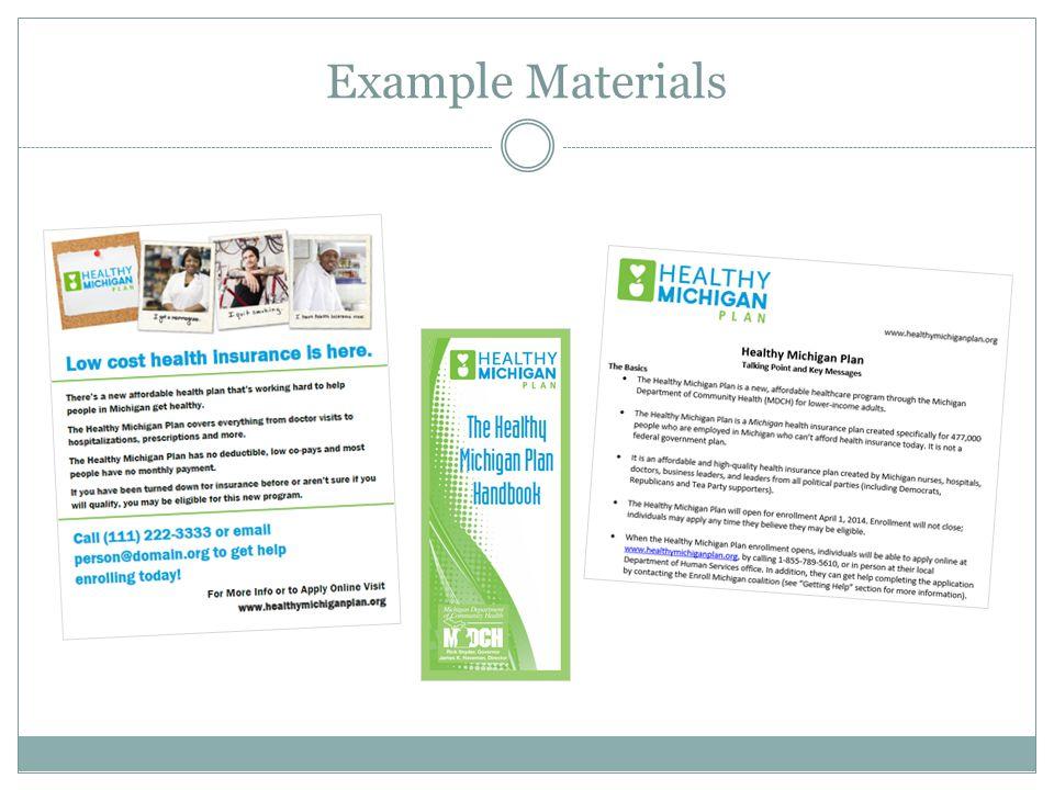 Example Materials