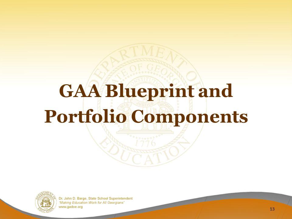 GAA Blueprint and Portfolio Components 13