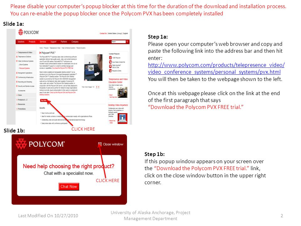Step 2a: If you scroll down when reaching the next webpage you will see the screen to left.