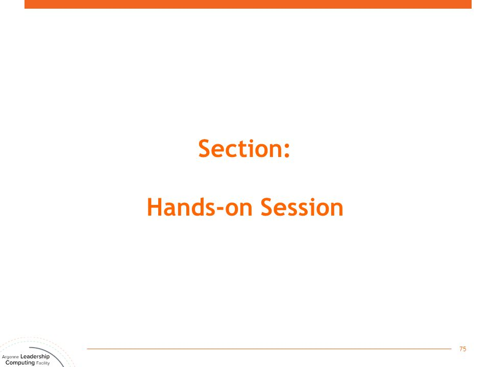 Section: Hands-on Session 75