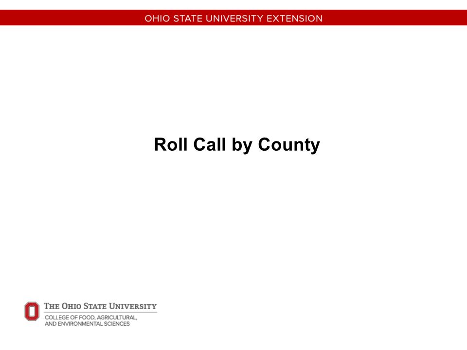 Roll Call by County
