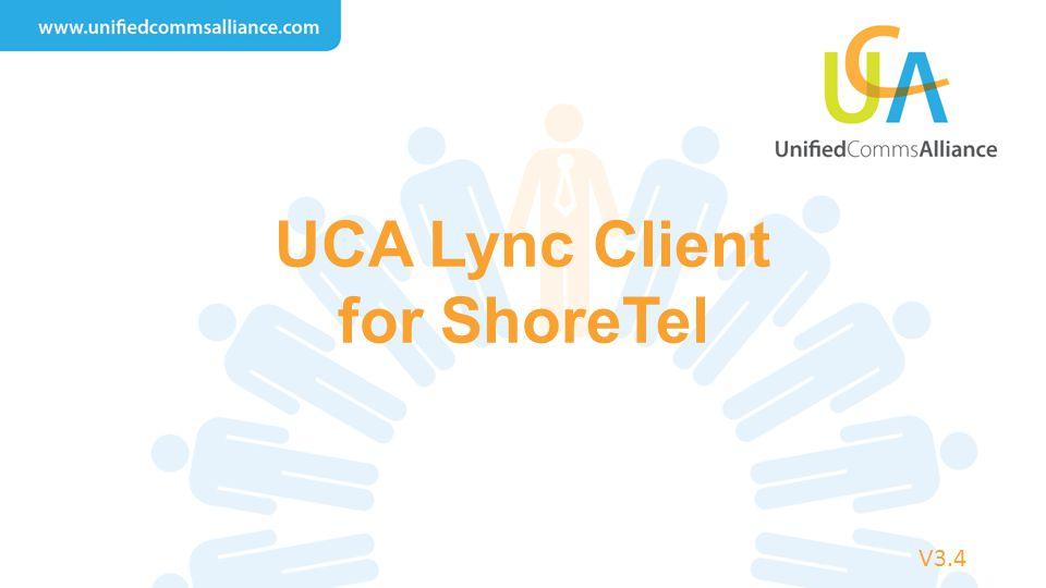 UCA Lync Client for ShoreTel V3.4
