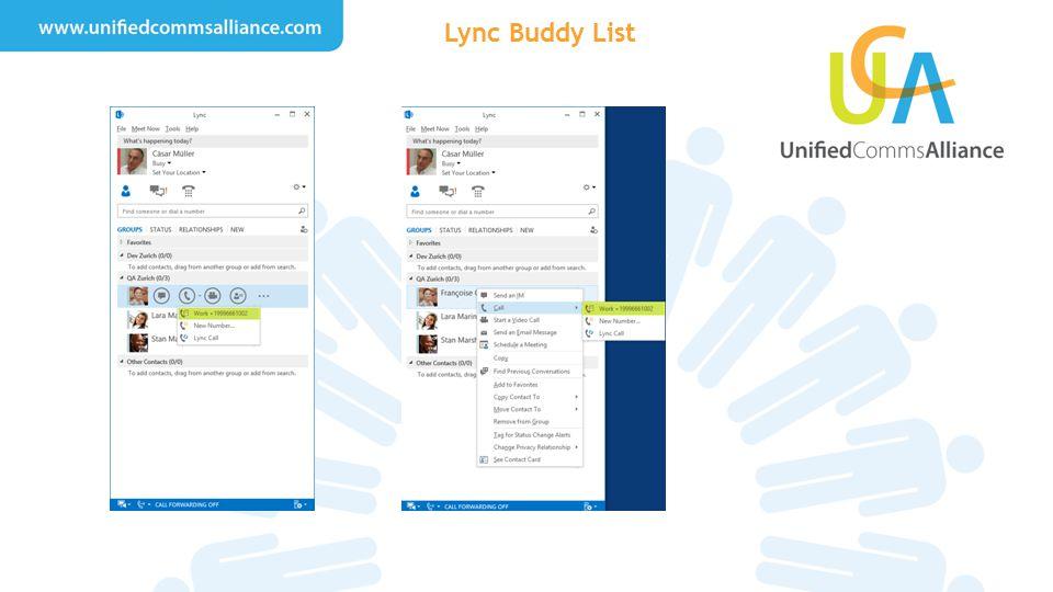Lync Buddy List
