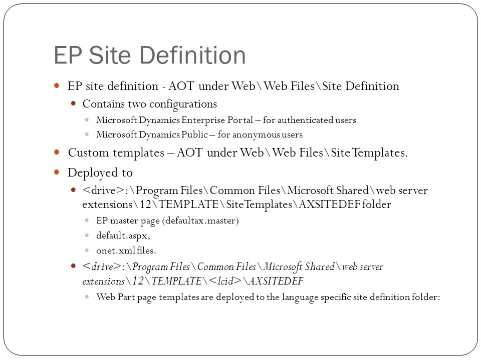 EP Features A SharePoint feature represents a modular server-side, file system-level customization that contains items that can be installed and activated in a SharePoint environment.