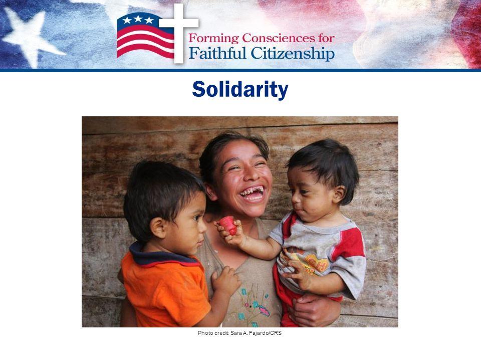 Solidarity Photo credit: Sara A. Fajardo/CRS