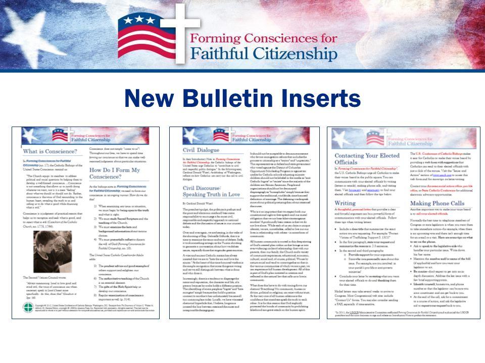 New Bulletin Inserts