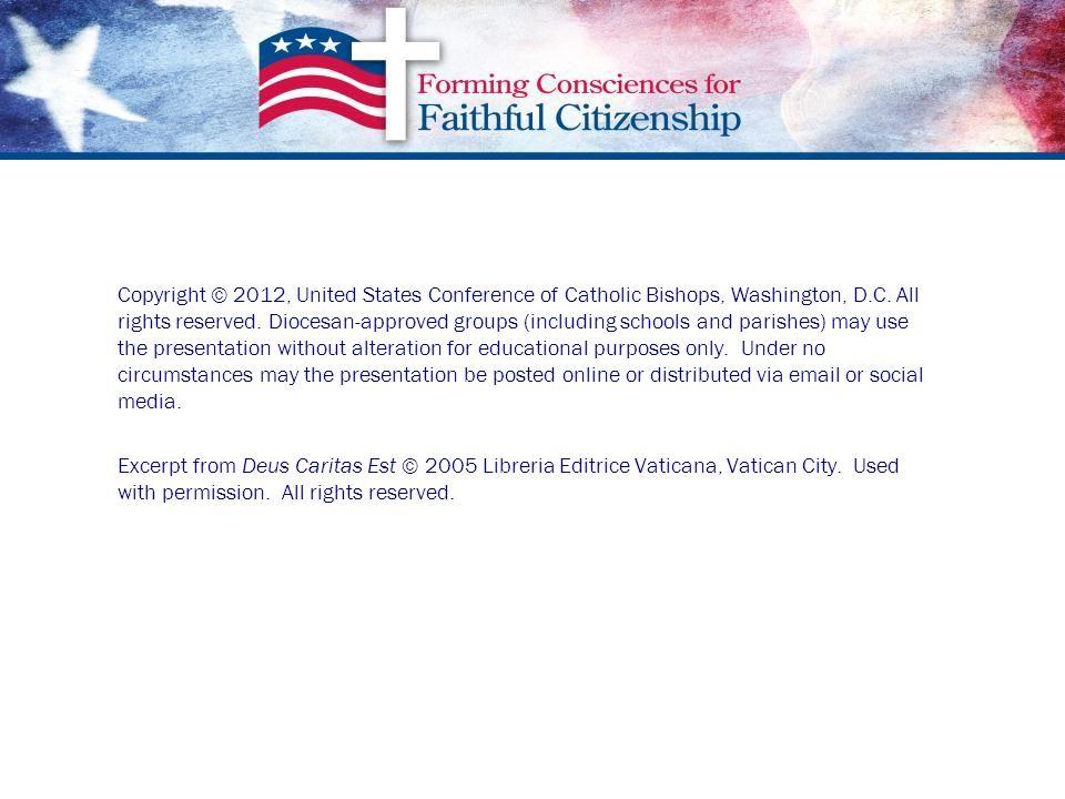 Copyright © 2012, United States Conference of Catholic Bishops, Washington, D.C.