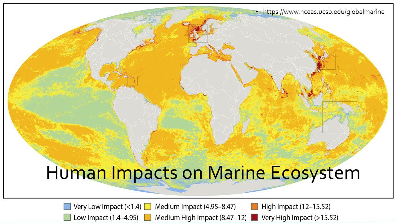 Human Impacts on Marine Ecosystem https://www.nceas.ucsb.edu/globalmarine
