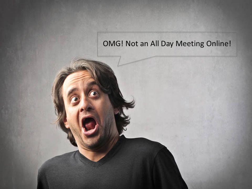 Online Platform 6 OMG! Not an All Day Meeting Online!