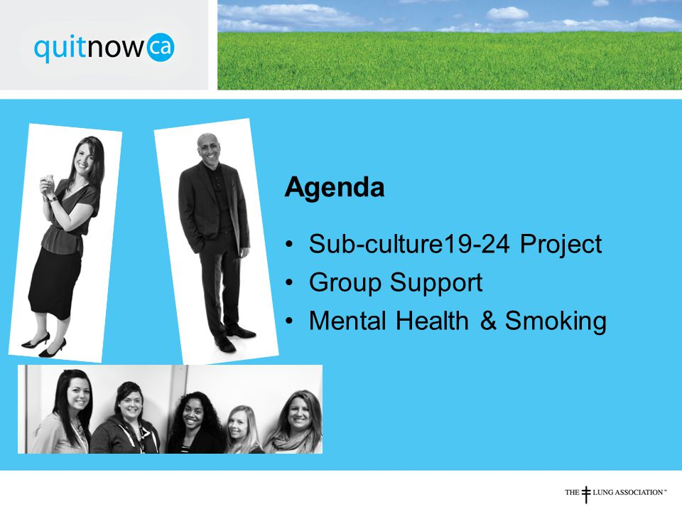Agenda Sub-culture19-24 Project Group Support Mental Health & Smoking