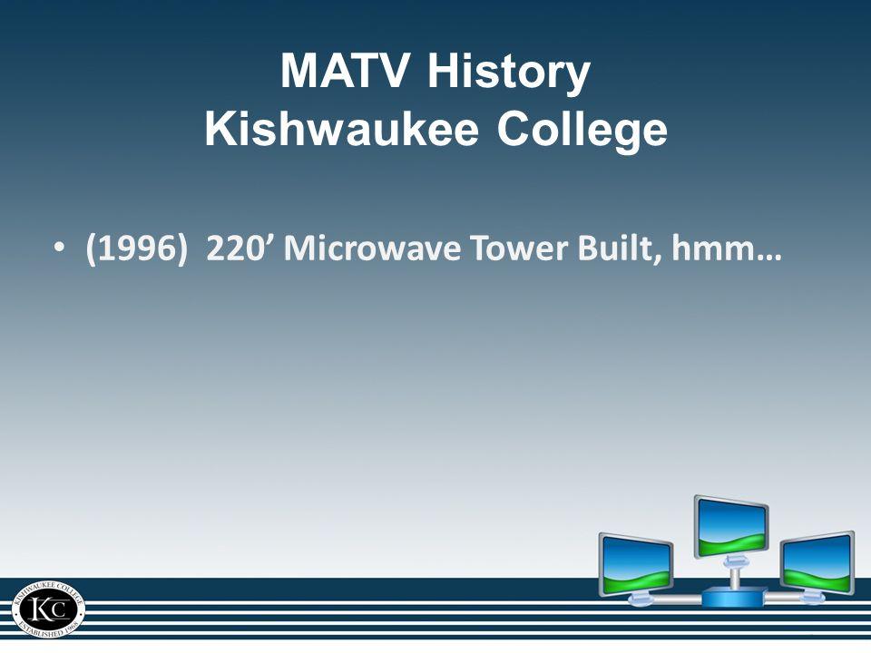 (1996) 220' Microwave Tower Built, hmm… MATV History Kishwaukee College