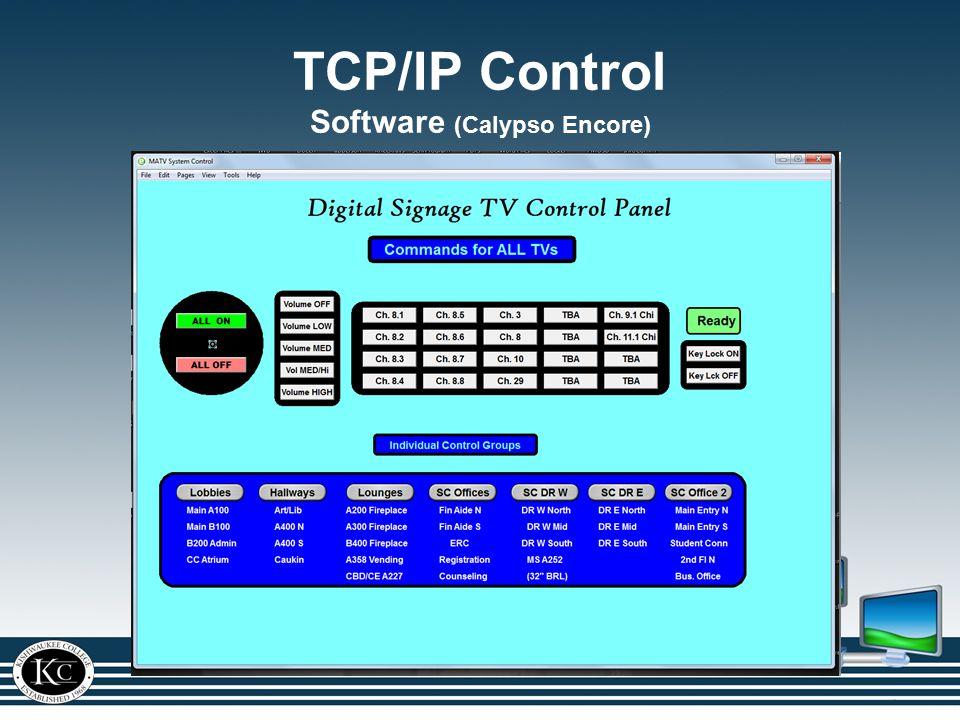 TCP/IP Control Software (Calypso Encore)