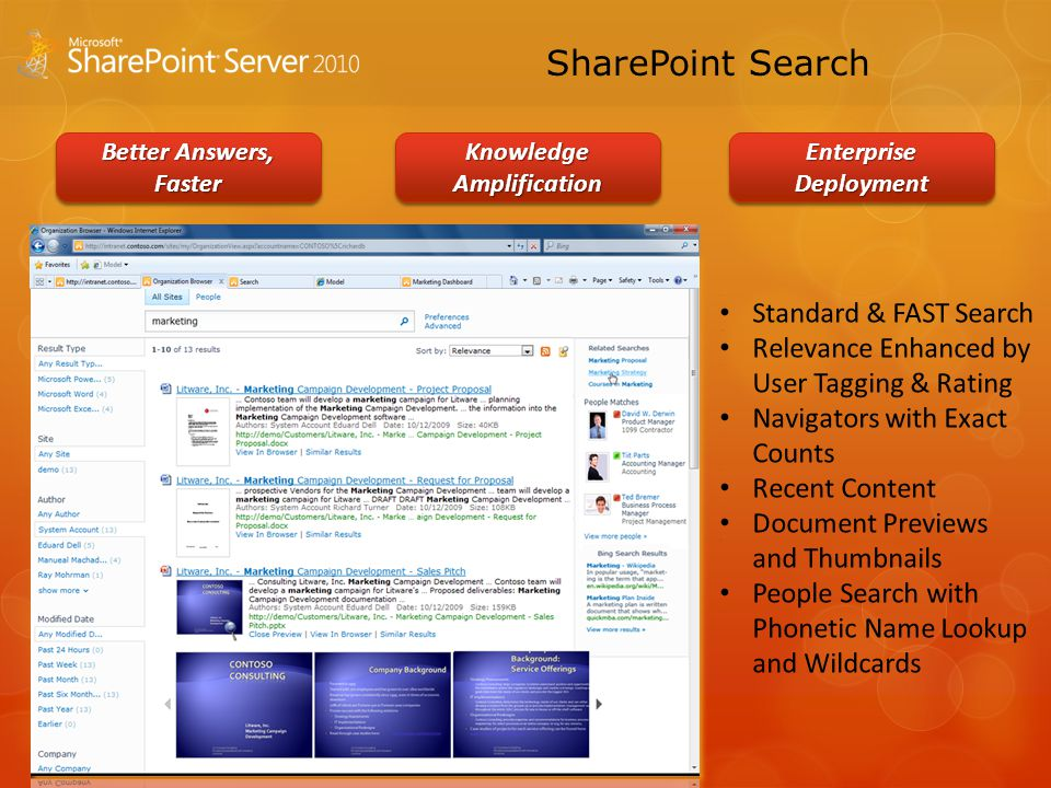SharePoint Search Better Answers, Faster Knowledge Amplification Enterprise Deployment