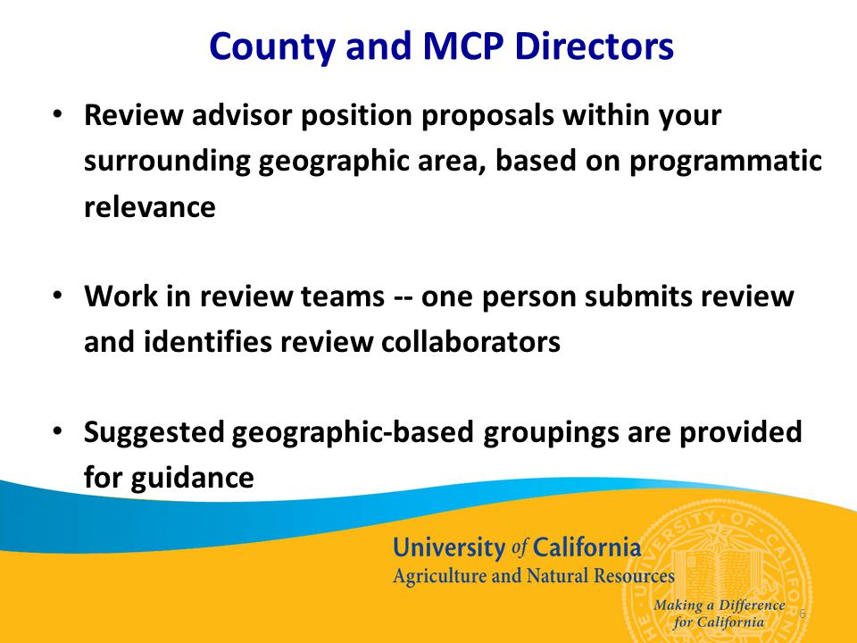 CD/MCP Geographic Grouping Guidance