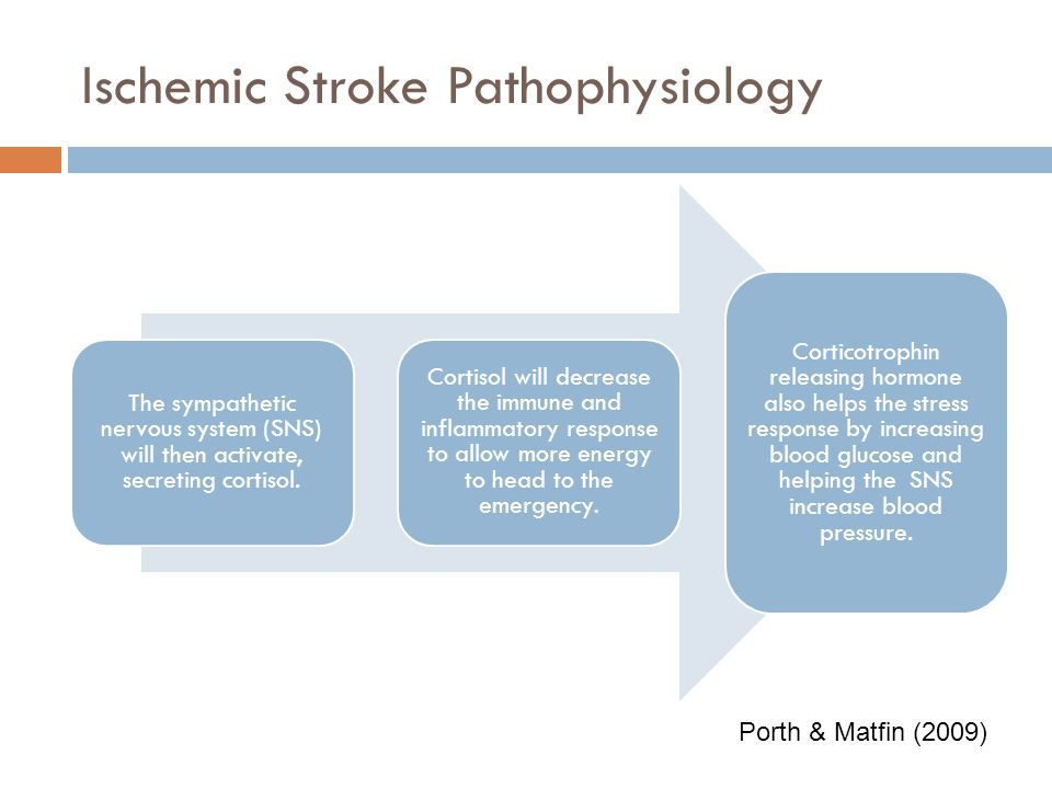 Ischemic Stroke Pathophysiology The immune system will then become activated causing an inflammatory response. The neutrophils will be the first respo