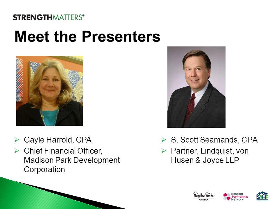 Meet the Presenters  S.