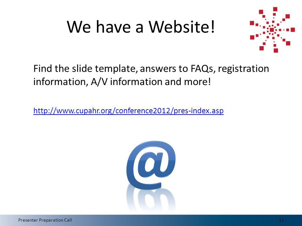 We have a Website.