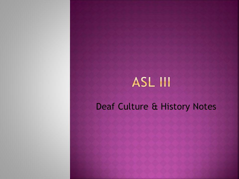  ASL is not...