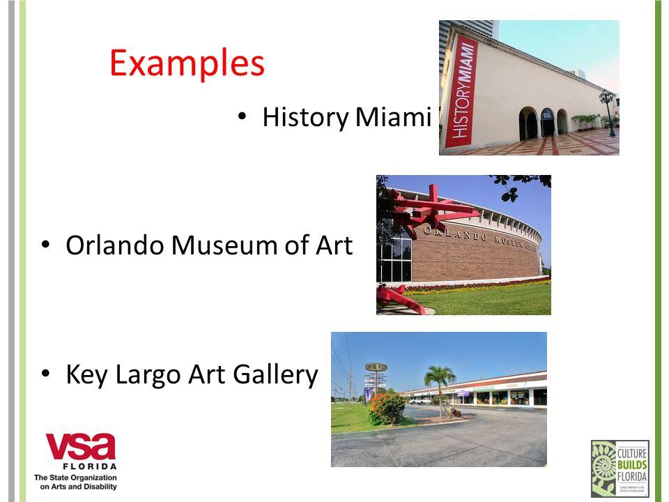 Examples History Miami Orlando Museum of Art Key Largo Art Gallery