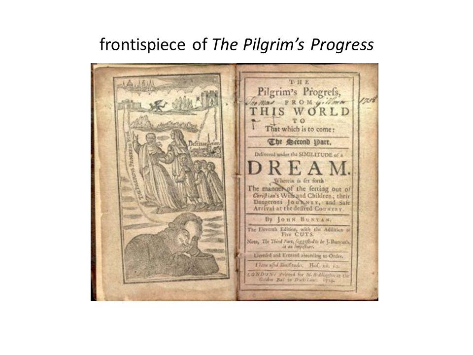 frontispiece of The Pilgrim's Progress