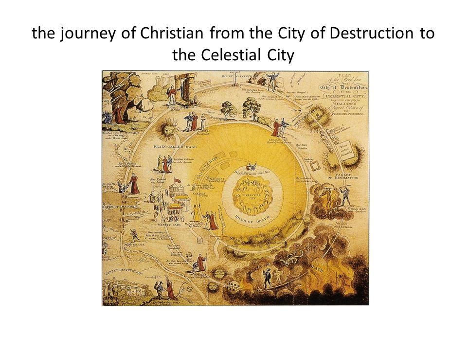 the journey of Christian from the City of Destruction to the Celestial City