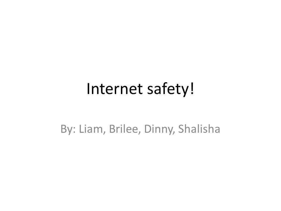 Internet safety! By: Liam, Brilee, Dinny, Shalisha