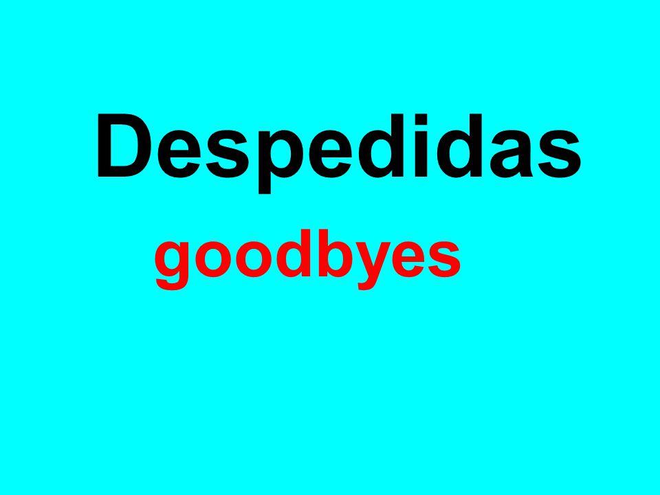 Adiós Good Bye