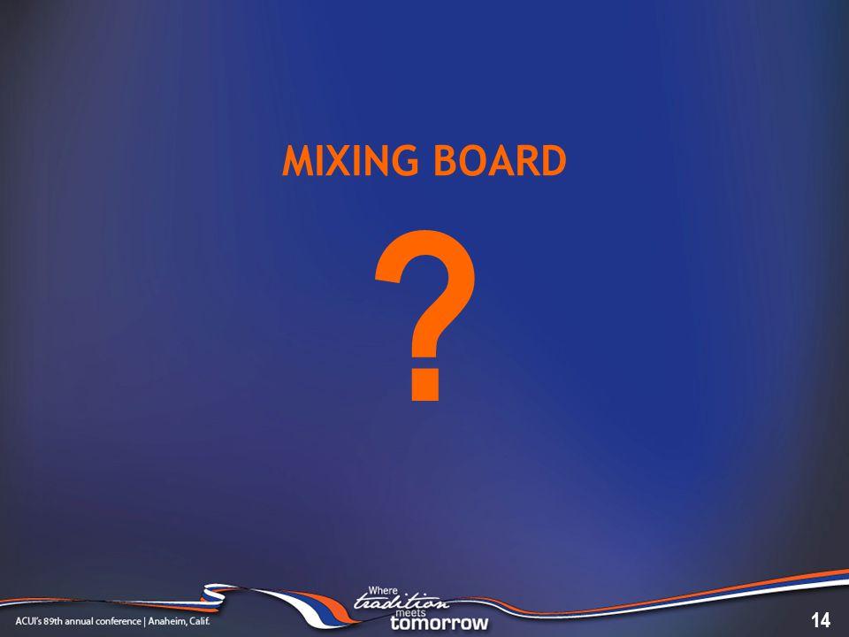 MIXING BOARD 14 ?