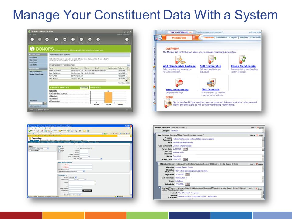 Manage Your Constituent Data With a System