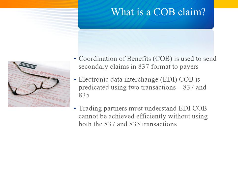 What is a COB claim.