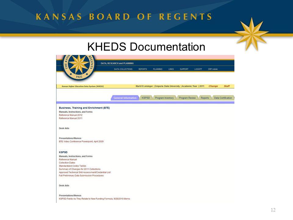 KHEDS Documentation 12