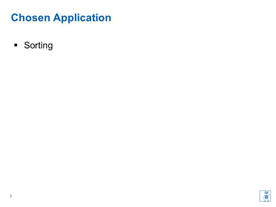 Chosen Application  Sorting 9