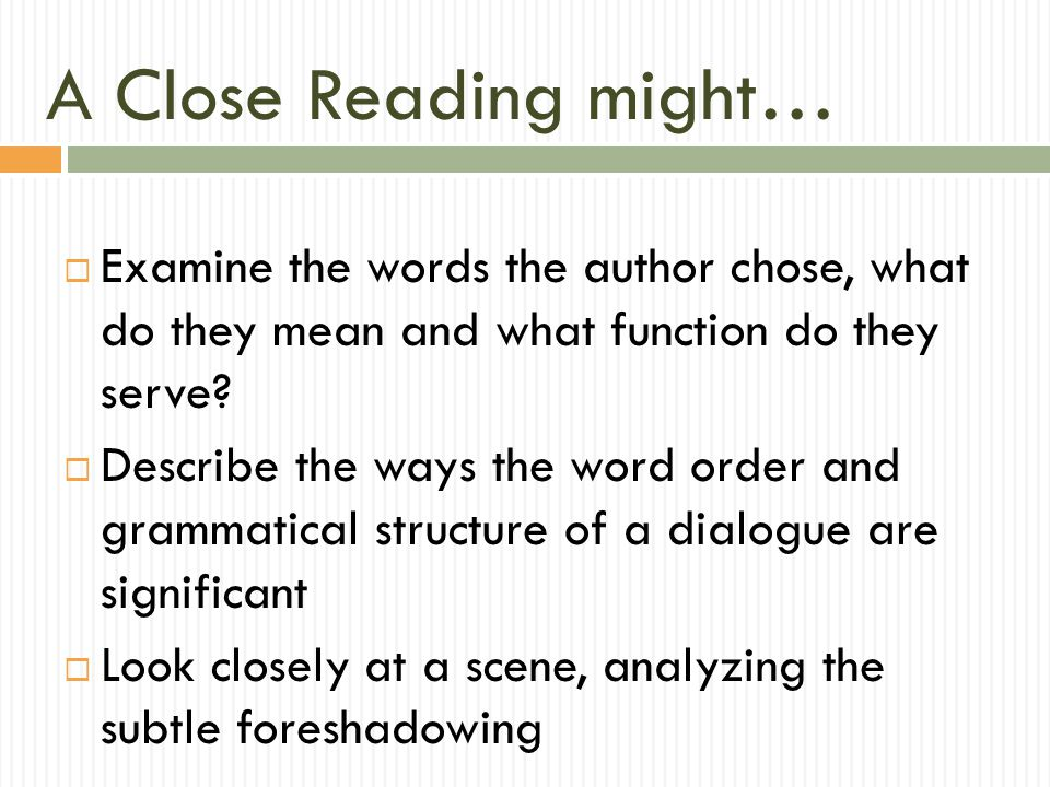 Sentence 6 (cont.) Shadows present, foreshadowing deeper shadows to come.