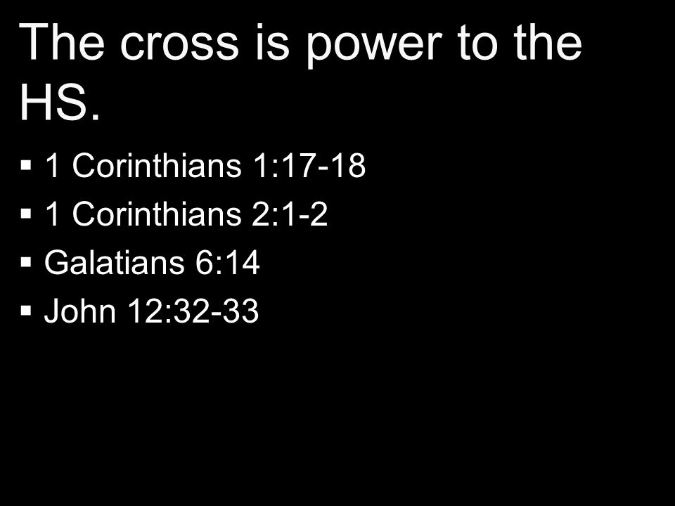 The cross is power to the HS.