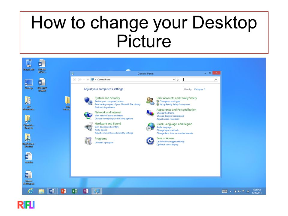 How to change your Desktop Picture