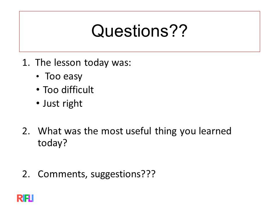 Questions . 1.