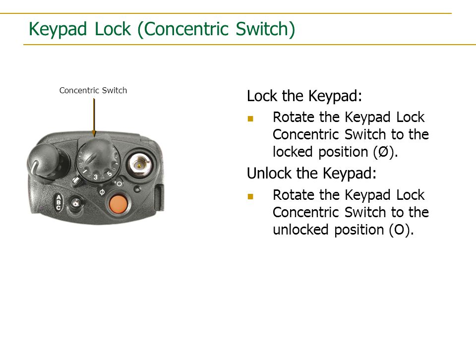 Zone Select Switch (ABC Switch) Select a Zone: Move the switch up or down to select zones:  7 (A)  71 (B)  72 (C) Zone Switch