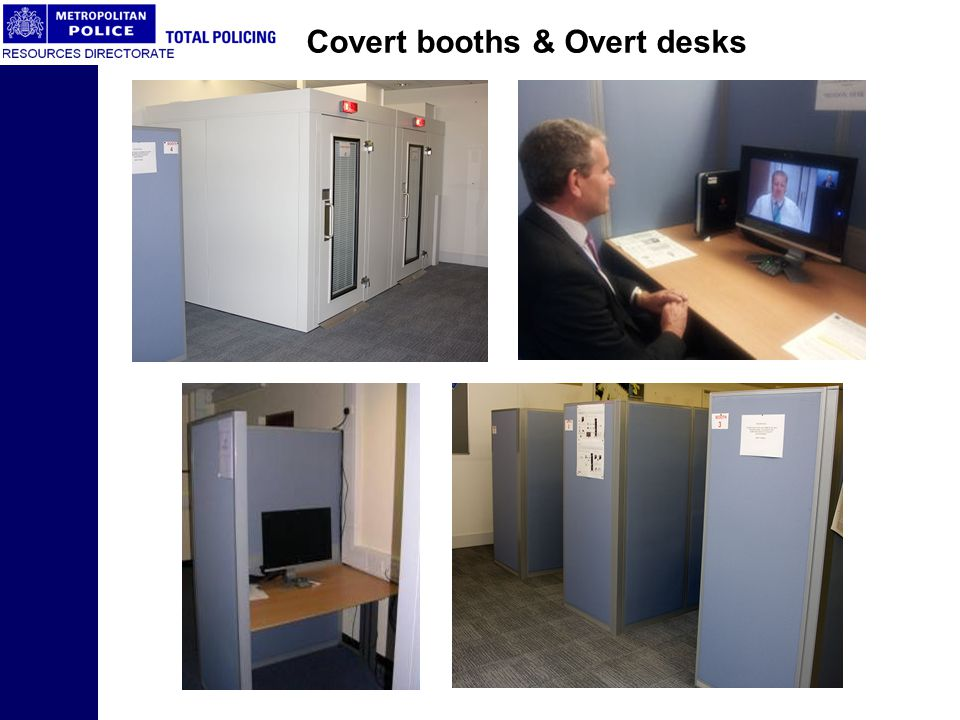 Covert booths & Overt desks