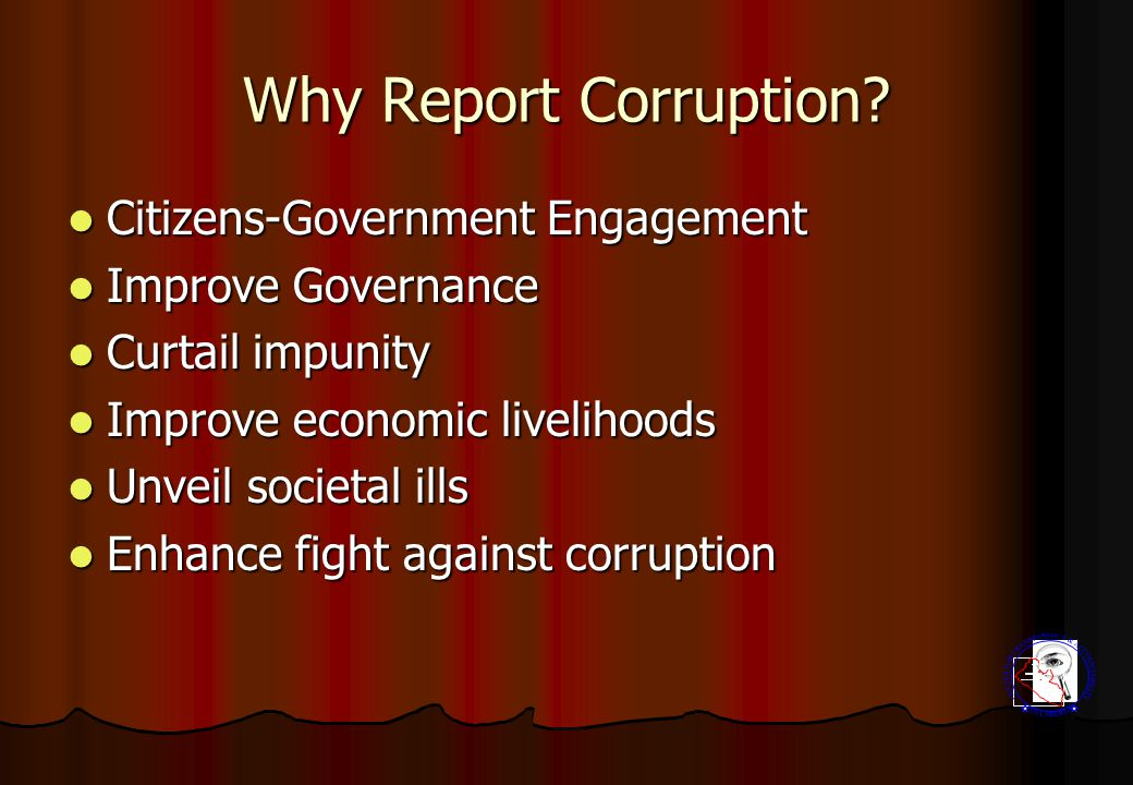 Why Report Corruption.